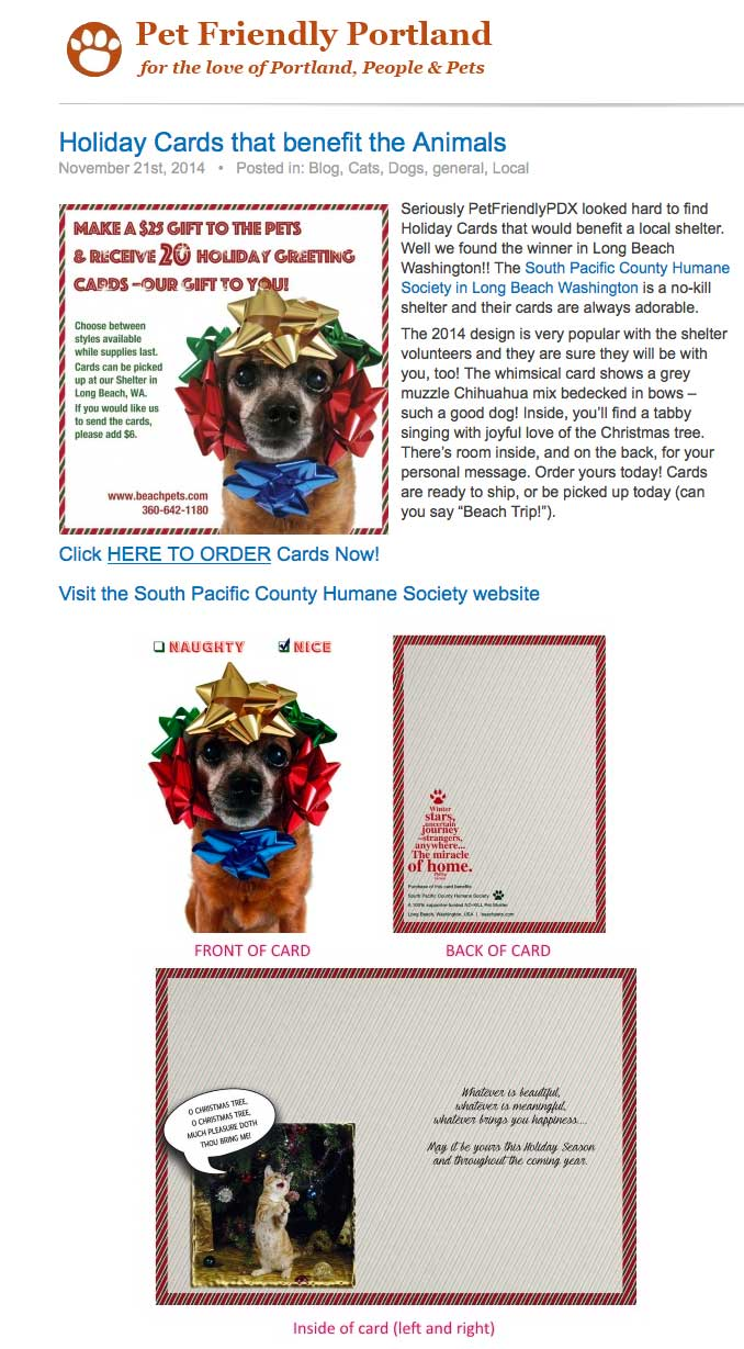 http://petfriendlypdx.com/holiday-cards-that-benefit-the-animals/