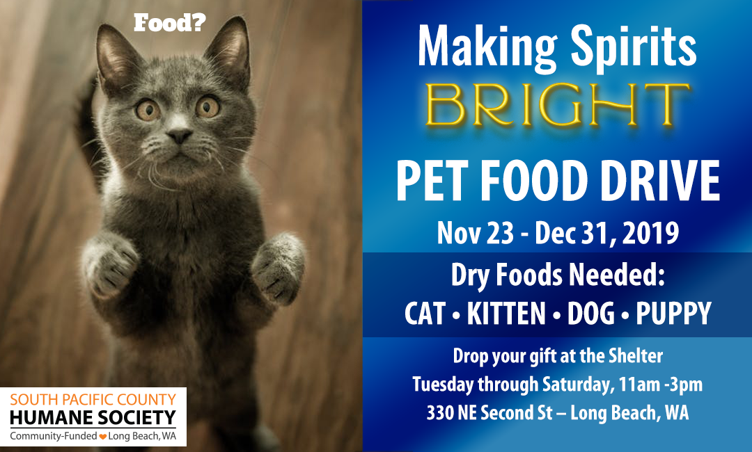 Pet Food Drive on Now